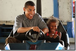Barack and first born