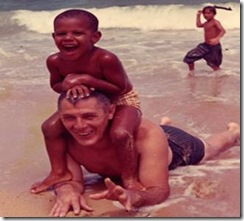 Barack Obama and grandfather