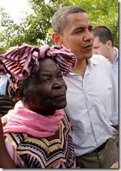 Barack Obama and grandmother kenya
