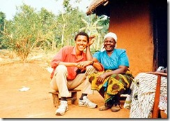 Barack Obama and grandmother kenya1