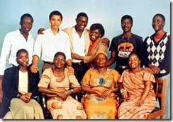 Barack Obama and Kenya family